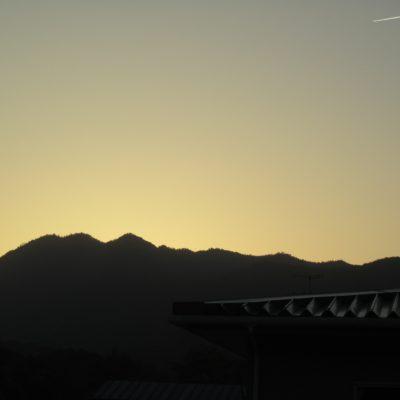 東郷町の沈んだ夕日