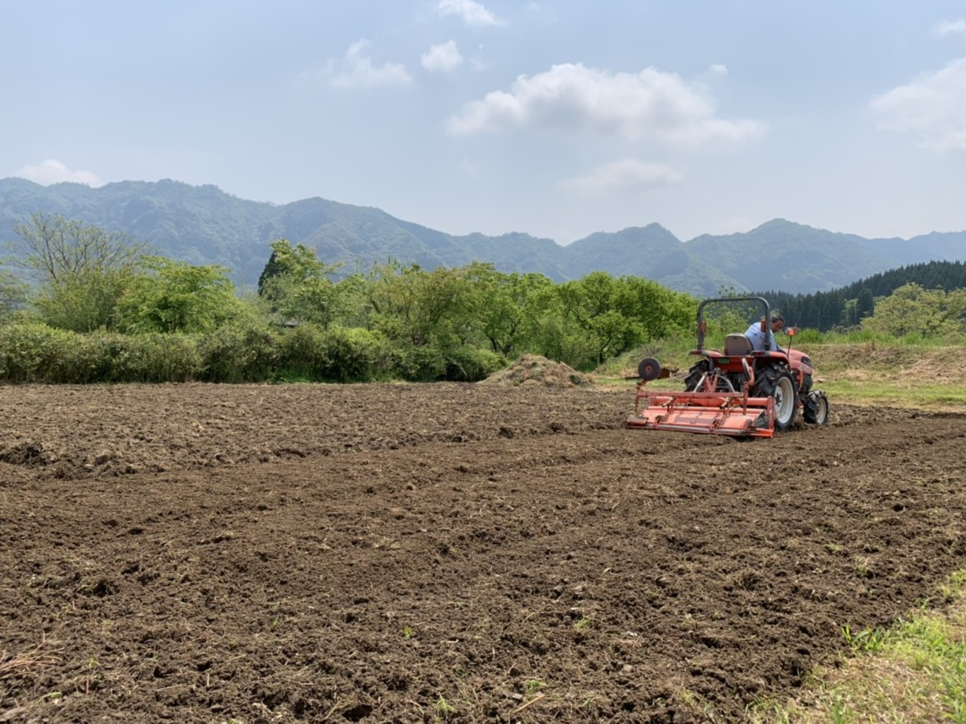 トラクター耕起