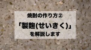 焼酎 製麴